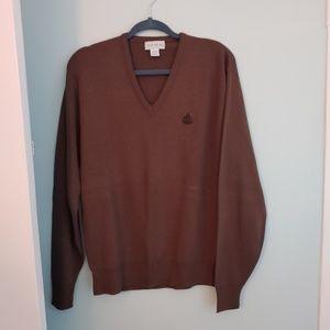 IZOD men's sweater, XL brown, V neck